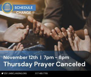 Thursday Prayer Nov 12th